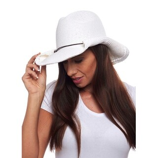 Cassidy Rolled Brim Cowboy Hat with Beaded Band