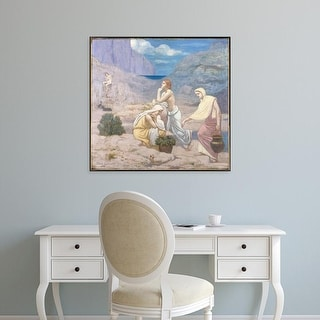 Easy Art Prints 's 'Gathering' Premium Canvas Art