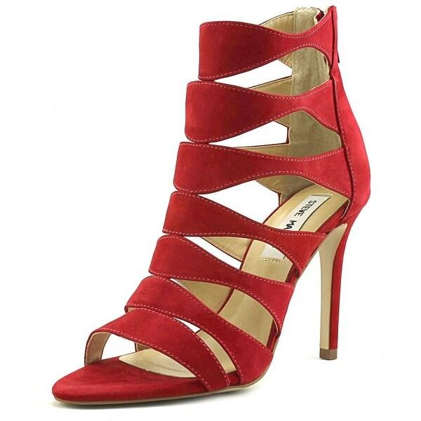 5216aff698d Shop Steve Madden Swyndlee Women Red Sandals - Free Shipping On ...