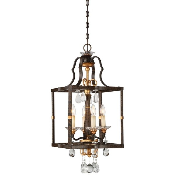 "Metropolitan N6463-652 4-Light 14"" Wide Pendant with Crystal Accents from the Chateau Nobles Collection"