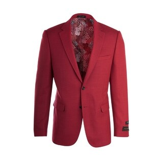 Sangria Ferrari Red Pure Crepe Wool Jacket by Tiglio Luxe