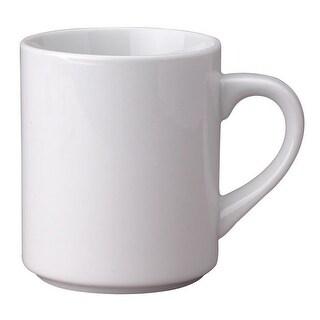 HIC 4624 Porcelain Mug, 11 Oz, White