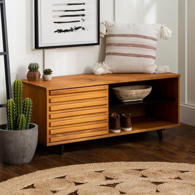Strick & Bolton 44-inch Solid Wood Storage Bench