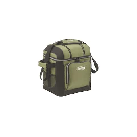 Coleman 30-Can Soft Cooler With Hard Liner Green