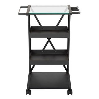 Offex Triflex Taboret - Charcoal/Clear