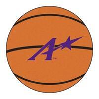 NCAA University of Evansville Purple Aces Basketball Shaped Mat Area Rug