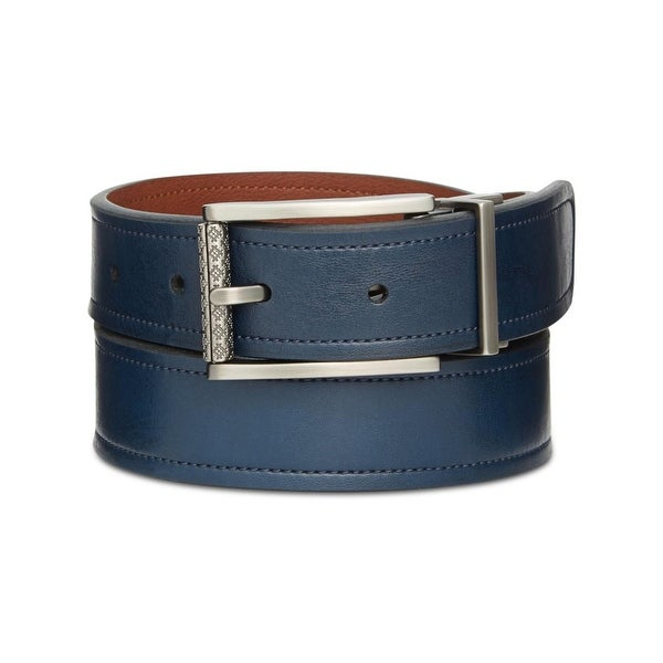 Ryan Seacrest Mens Casual Belt Leather Reversible