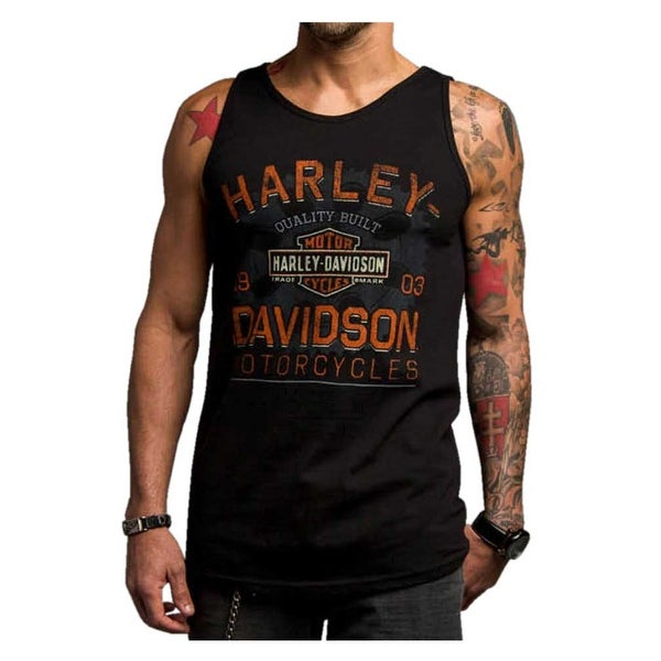 1f760ad5c173c9 Shop Harley-Davidson Men s Chrome Charger Sleeveless Muscle Shirt ...
