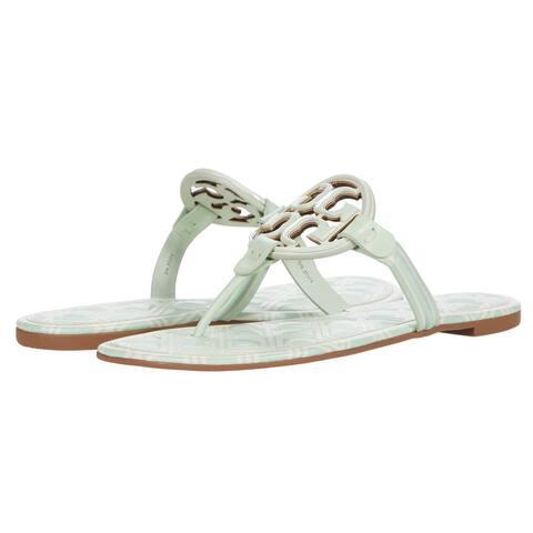Tory Burch Womens Metal Miller Sandals New Ivory Meadow Mist