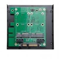 Syba 3.5-inch SATA 7 x15 pin Connector to Dual 7-pin SATA6G Dual mSATA RAID Adapter with Aluminum Housing ASMedia 1092R Chipset