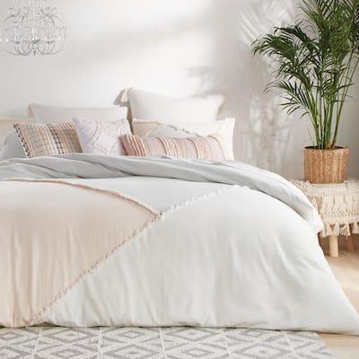 Kasey Colorblock Cotton Comforter and Sham Set