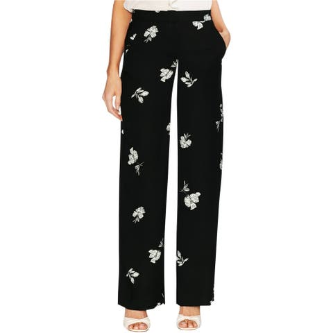 Vince Camuto Womens Tossed Flowers Casual Wide Leg Pants