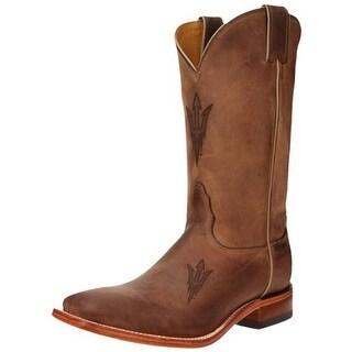 Nocona Boots Mens Arizona State Leather Square Toe Mid-Calf Boots - 15 medium (d)