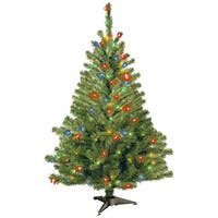 4 ft. Kincaid Spruce Tree with Multicolor Lights - green