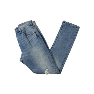 Levi's Womens Straight Leg Jeans Destroyed Slim Fit