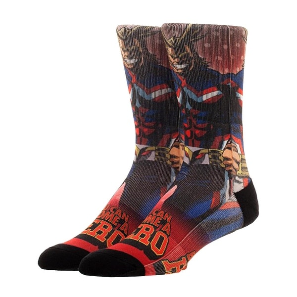 Bioworld My Hero Academia All Might Men's Sublimated Crew Socks