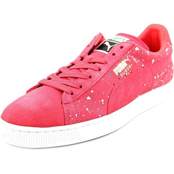 Puma Classic Splatter Round Toe Suede Sneakers