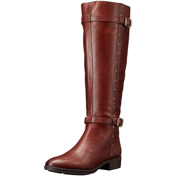 Vince Camuto Womens Preslen Leather Closed Toe Knee High Fashion Boots
