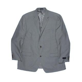 Sean John Mens Two-Button Suit Jacket Textured Pattern