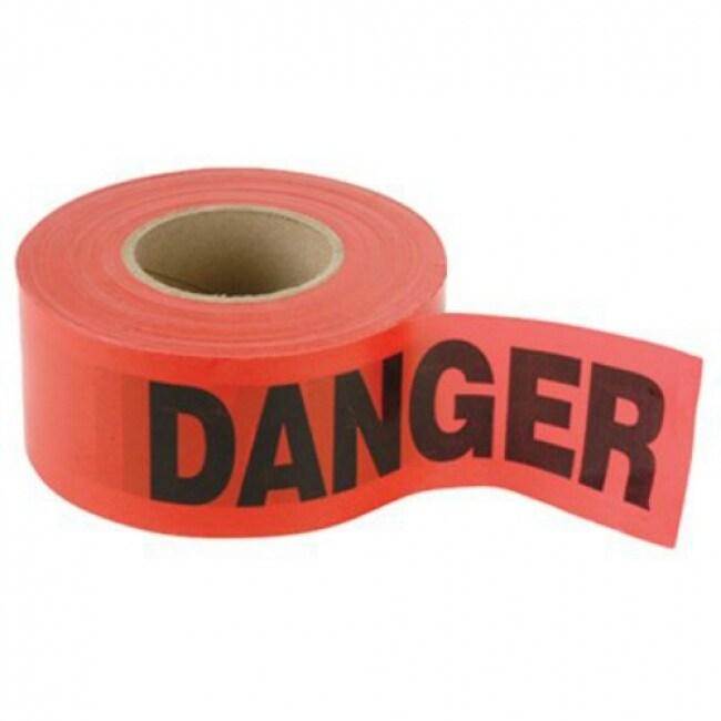 CH Hanson 16003 Weatherproof Danger Tape, 1000 Roll, Red