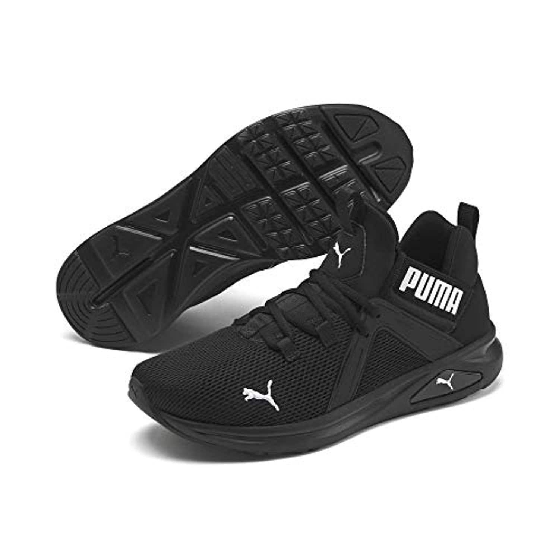 PUMA Men's Enzo Sneaker, Black White