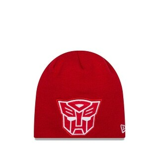 New Era Cap Men's Autobots Oversizer Knit Beanie, Red, One Size