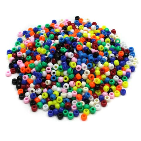 Creativity street bright hues pony beads 3552