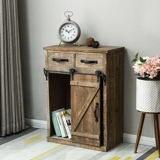 Link to Brown Wood Rustic Sliding Barn Door Console Cabinet Similar Items in Living Room Furniture