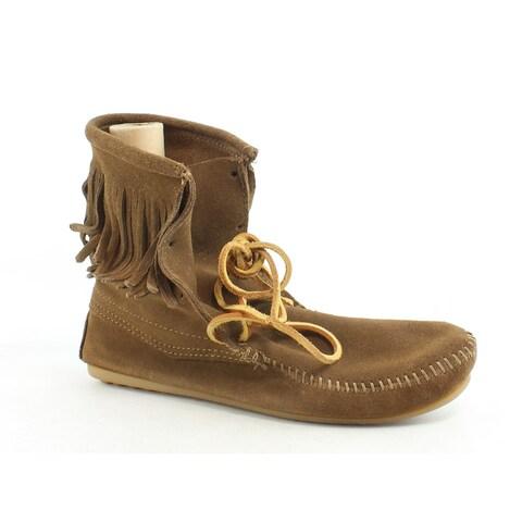 Minnetonka Womens Tramper Ankle Dusty Brown Moccasin Boots Size 10