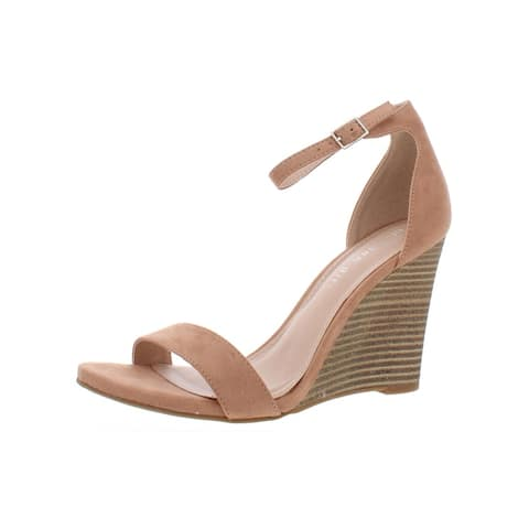 Madden Girl Womens Willow Wedges Solid Ankle Strap