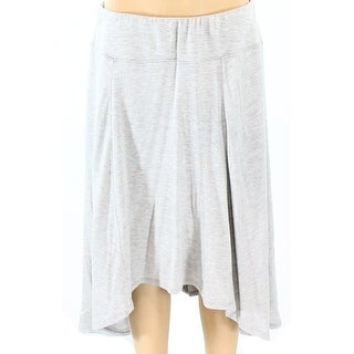 Nomadic Traders NEW Gray Heather PXL Petite Knit Asymmetrical Skirt