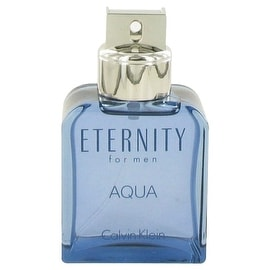Eternity Aqua by Calvin Klein Eau De Toilette Spray (Tester) 3.4 oz - Men