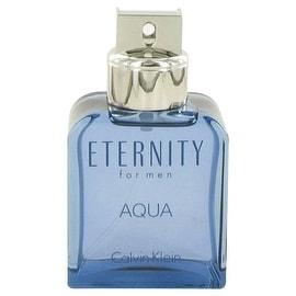 Eternity Aqua by Calvin Klein Eau De Toilette Spray (Tester) 3.4 oz - Men