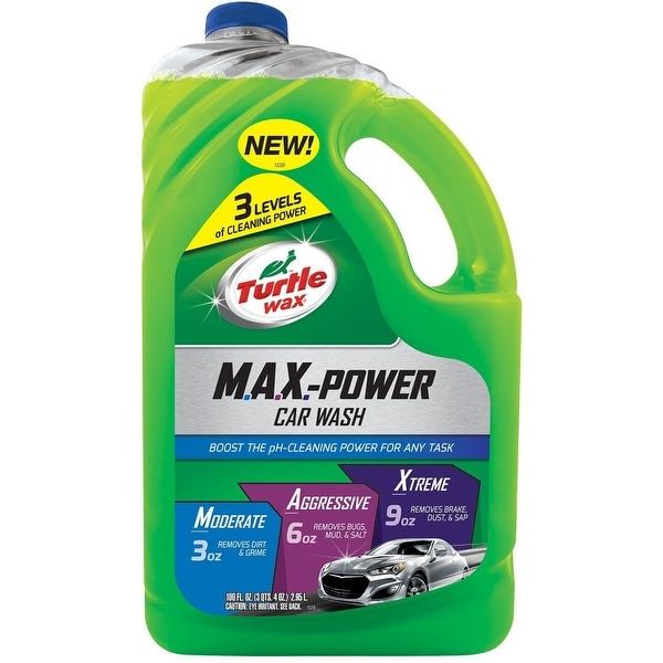 Turtle Wax 50597 Max Power Car Wash, 100 Oz
