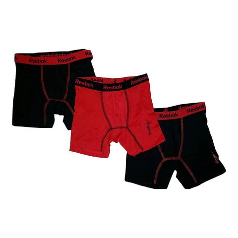 Reebok 3-Pack Boys' Stretch Performance Boxer Briefs