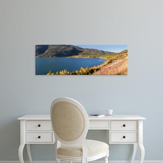Easy Art Prints Panoramic Images's 'Scenic view of a lake, Grand Teton National Park, Wyoming, USA' Premium Canvas Art