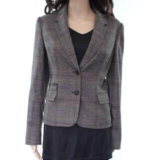 Calvin Klein NEW Brown Glen Plaid Women's Size 8 Blazer Jacket