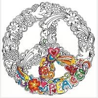 """Zenbroidery Stamped Embroidery 10""""X10""""-Peace"""