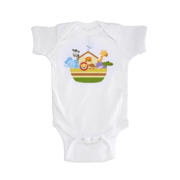 Animated Animal Printed Baby Boy Bodysuit