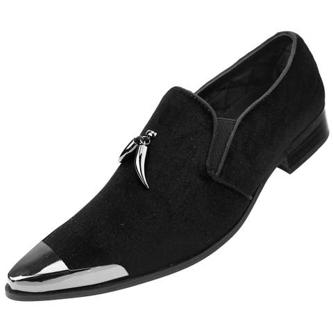 75176431b Amali Men s Velvet Loafer Metal Tip Horn Tassel Dress Shoe s Corwin