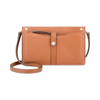 Nine West Womens Pockets A Plenty Crossbody Handbag Faux Leather Convertible - Tobacco - small