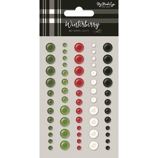 Winterberry Adhesive Enamel Dots 60/Pkg-