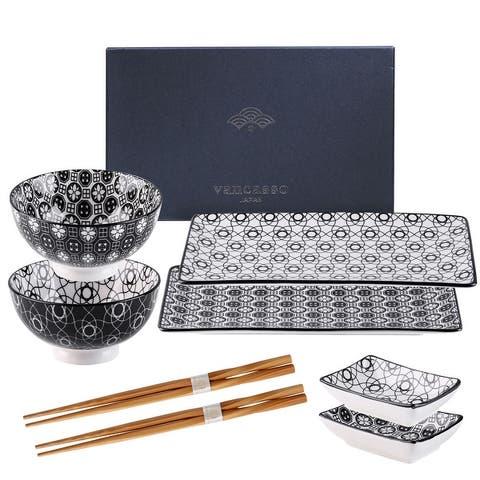 vancasso Haruka, 8-Piece Japanese Sushi Set, Service for 2