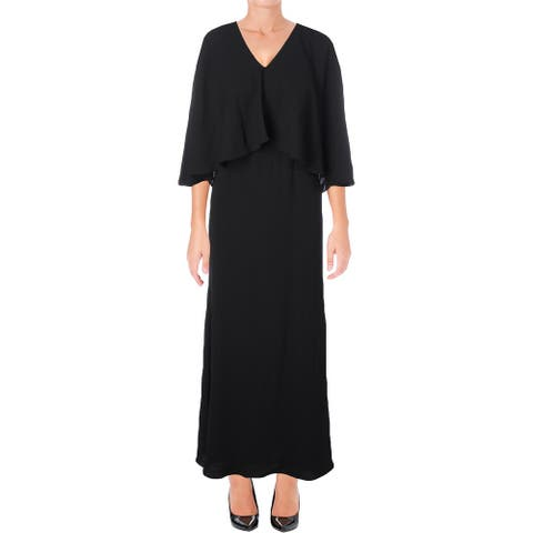 Ali & Jay Womens Capelet Dress Layered Cape Sleeves
