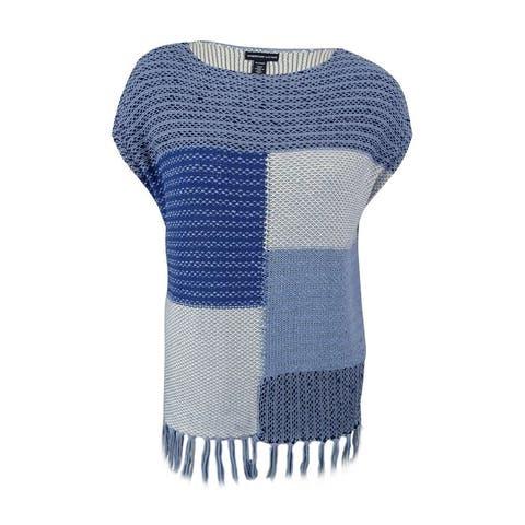 American Living Women's Fringe Trim Sweater