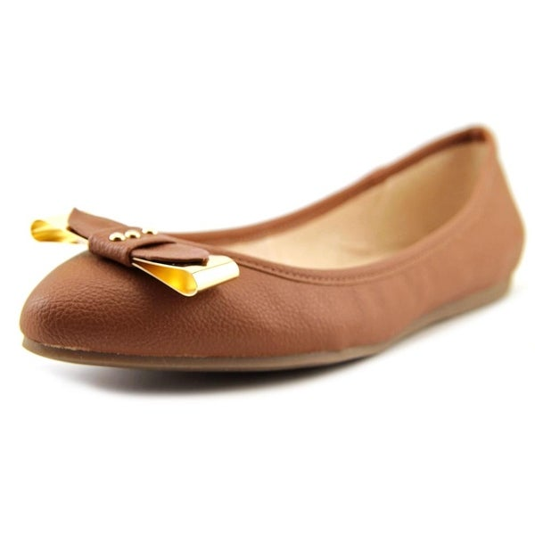 Bar III Penguin Women Pointed Toe Synthetic Brown Flats