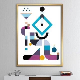 Link to Designart 'Blue Diamond Arrangement' Mid-Century Modern Framed Art Print Similar Items in Art Prints