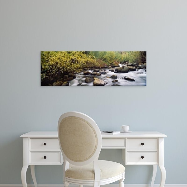 Easy Art Prints Panoramic Images's 'River passing through a forest, Inyo County, California, USA' Premium Canvas Art