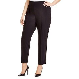 Lafayette 148 Womens Plus Slim Pant Pintuck Hidden Side Zip - 22W