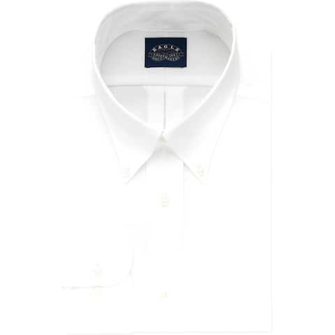 Eagle Mens Big & Tall Dress Shirt Collared Work Wear - White - 19 37/38